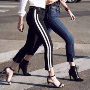 MOTHER Insider Crop Step Fray Jeans Guilty Racer